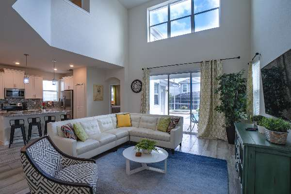 Spacious living area perfect for hanging and relaxing
