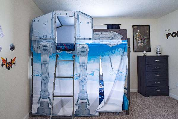Kids will have fun picking their bunk to play and sleep