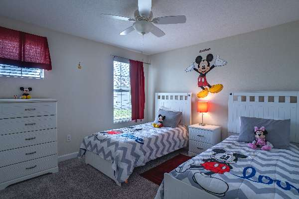 Adorable Disney themed, double twin bedroom