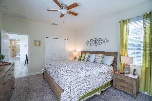 Plenty of natural light in the King bedroom